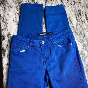 Jordache Navy Blue Womans Skinny jeans Size 8